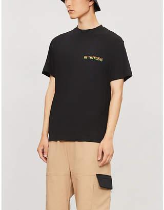 Selfridges Mr Thunders X MUSIC HOUSE crewneck cotton T-shirt