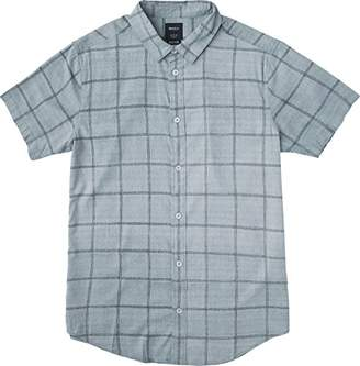RVCA Men's Handle Short Sleeve Woven Shirt