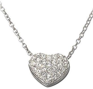 Swarovski Heart-Shaped Swarovski Crystal Pavé Pendant Necklace $89 thestylecure.com
