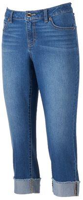 Women's Jennifer Lopez Cuffed Capri Jeans $50 thestylecure.com