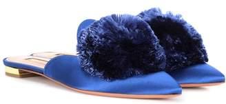 Aquazzura Powder Puff satin slippers