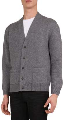 The Kooples Wool Cashmere-Blend Cardigan