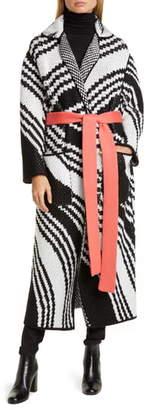 Missoni Zigzag Jacquard Wool Blend Sweater Coat