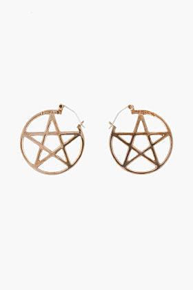 Pamela Love bronze Pentagram Earrings