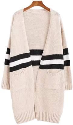 Goodnight Macaroon 'Estrella' Stripe Colorblock Cardigan