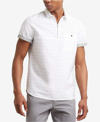 Kenneth Cole Men's Striped Popover Shirt