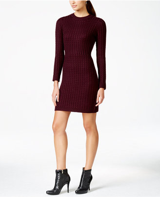 Calvin Klein Crew-Neck Cable-Knit Sweater Dress $134 thestylecure.com