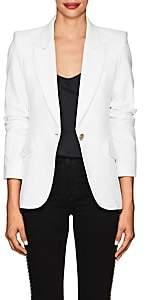L'Agence Women's Chamberlain Tweed One-Button Blazer - White