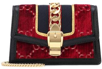 Gucci Sylvie GG velvet mini bag