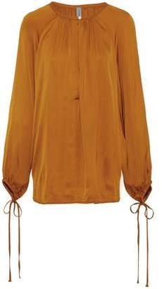 Raquel Allegra Dreamer Gathered Sateen Blouse