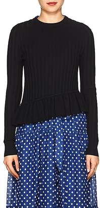 Robert Rodriguez Women's Rib-Knit Peplum Sweater