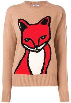 P.A.R.O.S.H. fox intarsia sweater