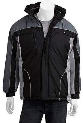 Climate Concepts s big men's fleece lined jacket with removable hood