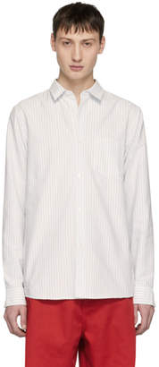 A.P.C. Blue and White Oliver Shirt