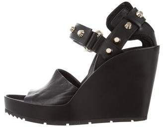 Balenciaga Studded Leather Wedges