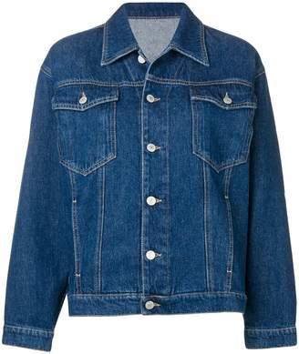 Chiara Ferragni signature wink applique denim jacket