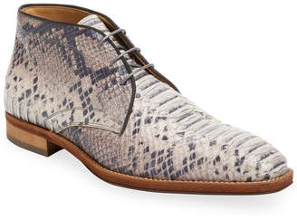 A'louest Haleiwa Embossed Leather Chukka Boot