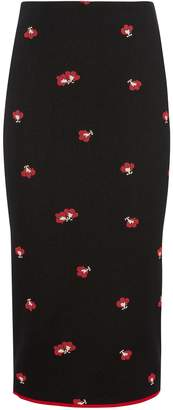 Victoria Beckham Floral Pencil Skirt