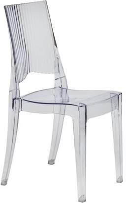 LeisureMod Modern Coral Transparent Dining Modern Chair