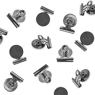 Super Z Outlet Heavy Duty Mini Silver Refrigerator Magnet Hook Clips for Photo Displays