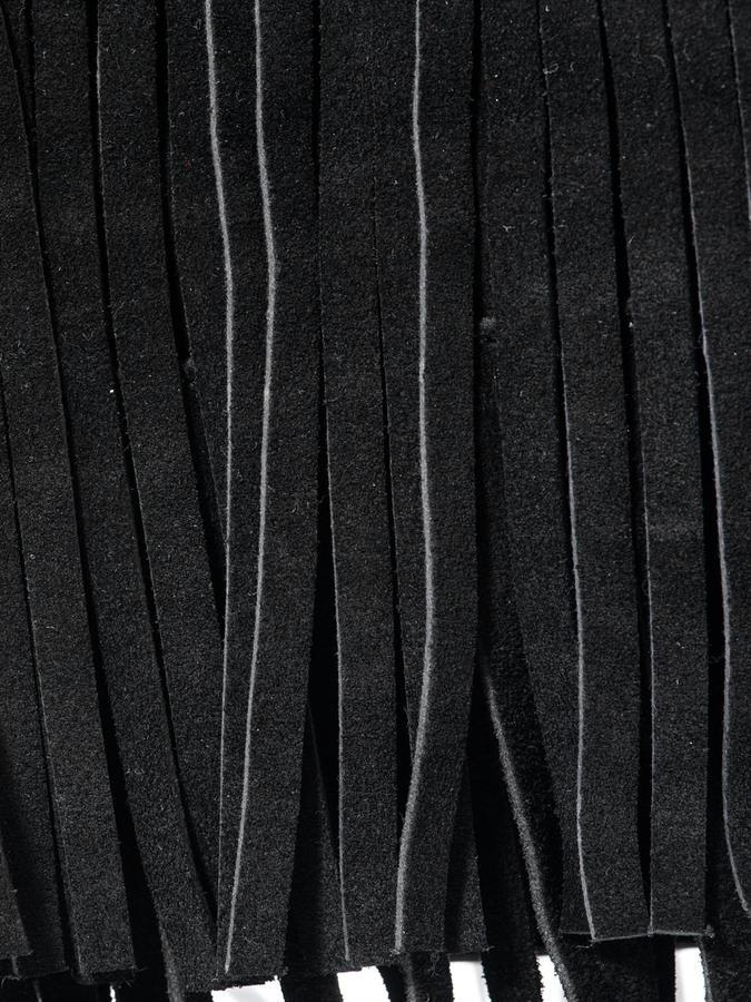 Diane von Furstenberg Wrap suede fringe tote
