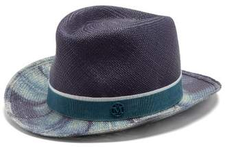 Maison Michel Lydia Bleached Straw Hat - Womens - Blue