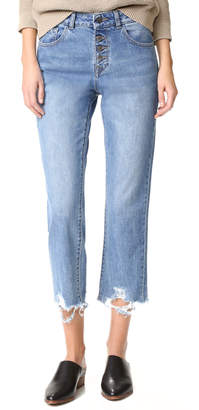 DL1961 Patti High Rise Straight Jeans $208 thestylecure.com