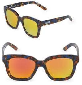 Mirrored 52MM Square Sunglasses