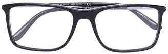 Giorgio Armani angular frame glasses