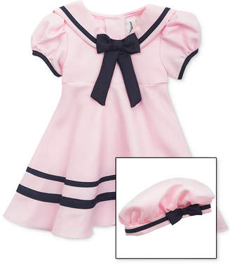 Rare Editions Baby Girls Sailor Dress & Hat Set