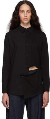 Y's Ys Black Slash Shirt