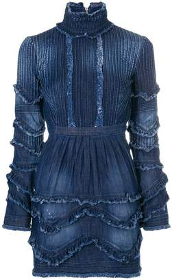 DSQUARED2 ruffled denim dress