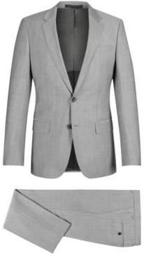 BOSS Hugo Italian Wool Suit, Slim Fit Huge/Genius 48R Open Grey