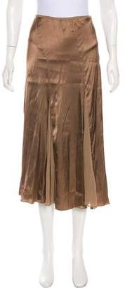 DKNY Satin Midi Skirt