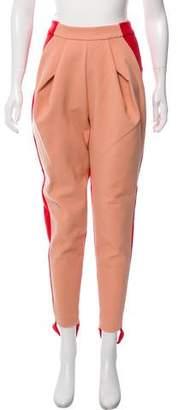 DELPOZO Colorblock High-Rise Riding Pants