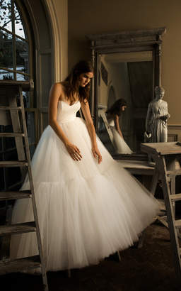 Isa Belle Isabelle Armstrong Liane Strapless Tulle Ruffle Ball Gown
