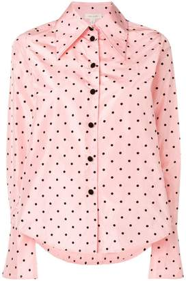 Marc Jacobs long-sleeve polka dot blouse