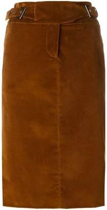 Alberta Ferretti buckle straps midi skirt
