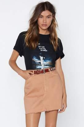 Nasty Gal Knock Hem Dead Denim Skirt