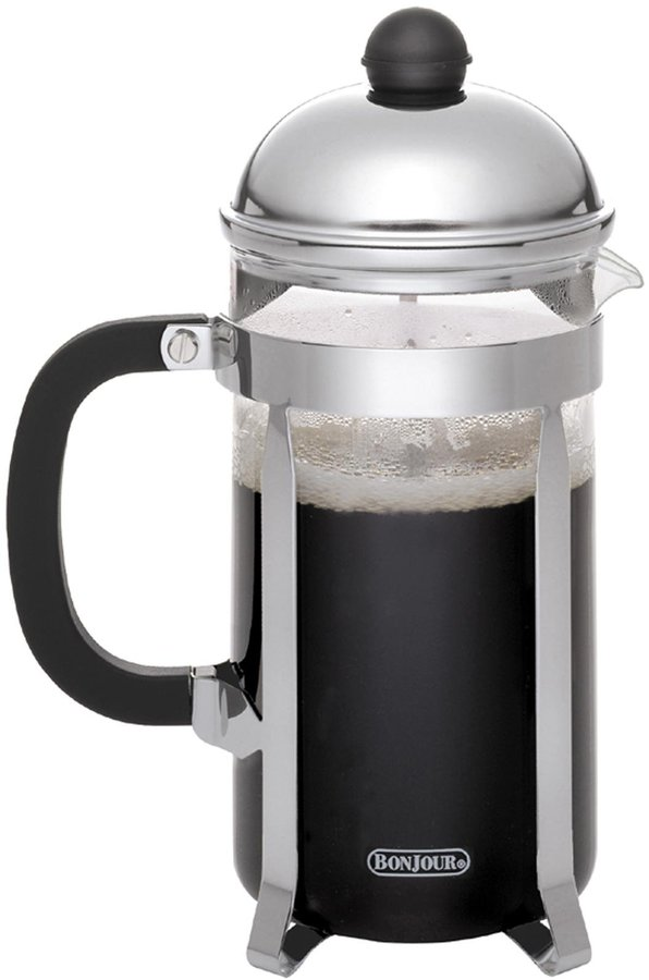 BonJour Coffee 12-Cup Monet French Press, Polished Stainless Steel - Stainless Steel