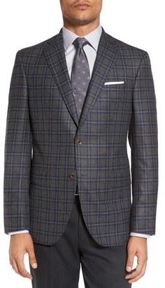 Men's David Donahue 'Connor' Classic Fit Plaid Wool & Cashmere Sport Coat $795 thestylecure.com
