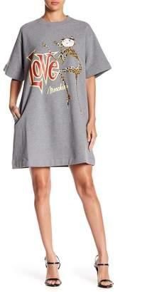 Love Moschino Abito Overman T-Shirt Dress