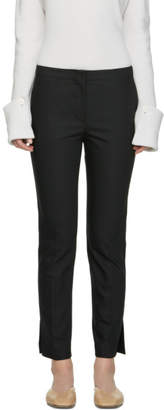 Helmut Lang Black Polished Ankle Trousers