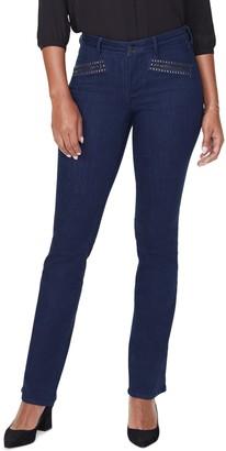 NYDJ Barbara High Waist Hip Zip Bootcut Jeans
