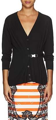 Prada Women's Virgin Wool Belted Cardigan - Black