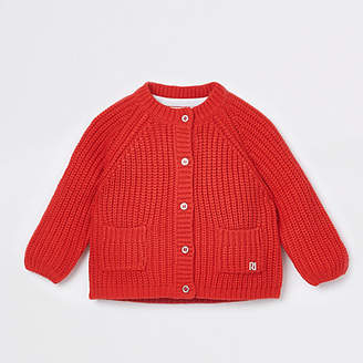 River Island Baby Red chunky knit cardigan