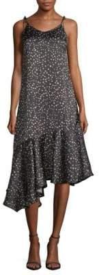 Star-Print Maxi Dress