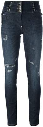 Philipp Plein 'Bouganvillea' skinny jeans