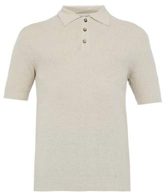 Éditions M.R Editions M.r - Positano Terry Cloth Cotton Blend Polo T Shirt - Mens - Light Brown