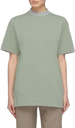 Acne Studios 'Gojina' oversized logo jacquard mock neck T-shirt